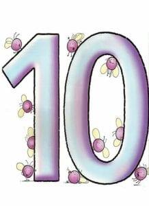 numeros para imprimir colorido 10