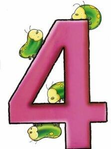 numeros para imprimir colorido 4