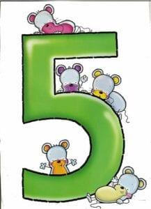 numeros para imprimir colorido 5