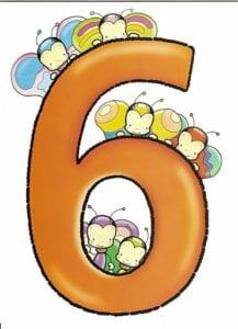 numeros para imprimir colorido 6
