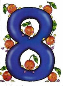 numeros para imprimir colorido 8