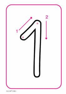 numeros para imprimir de 1 a 9 1