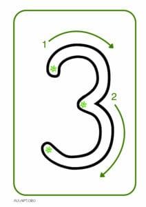numeros para imprimir de 1 a 9 3