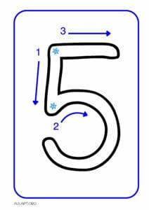 numeros para imprimir de 1 a 9 5