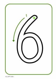 numeros para imprimir de 1 a 9 6
