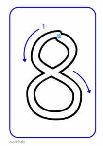 numeros para imprimir de 1 a 9 8