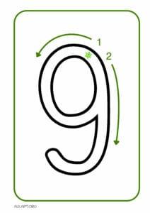 numeros para imprimir de 1 a 9 9