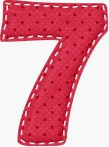 varal de numeros para imprimir 7