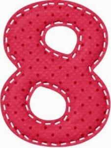varal de numeros para imprimir 8