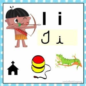 vogais coloridas para imprimir i