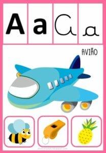 vogais com desenhos para imprimir a