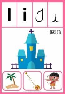 vogais com desenhos para imprimir i