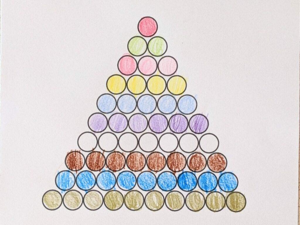 colorir escada de contas coloridas montessori 01