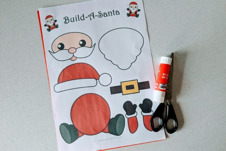 Atividade de Natal para recortar e montar
