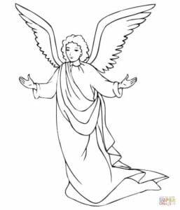 anjo de natal para pintar