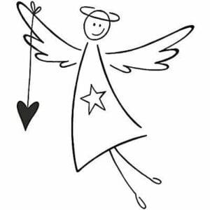 anjos para colorir