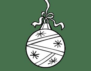 bola natalina para pintar