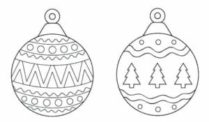 bolas de natal para colorir simbolo natalino