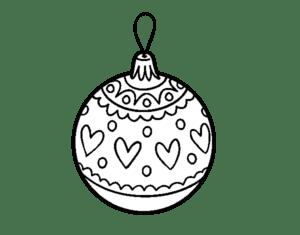 bolas natalinas para colorir