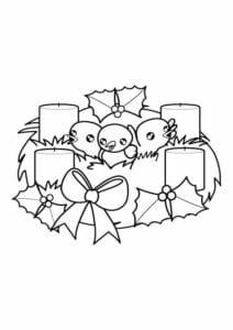 coroa do advento para colorir simbolos de natal