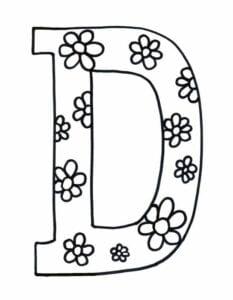 desenho com a letra d para imprimir