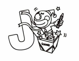 desenho da letra j para imprimir