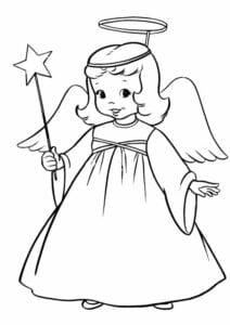 desenho de anjo para colorir simbolos de natal