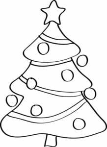 desenhos de arvore de natal para colorir