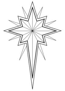 estrela de belem para colorir