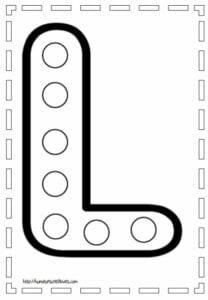 figura com a letra l para imprimir
