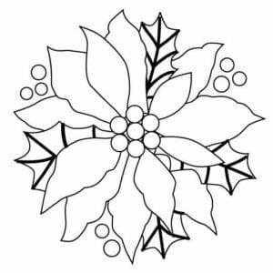 flor de pascoa para pintar