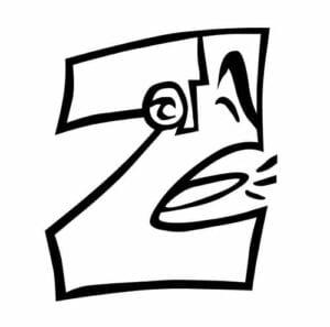 imagem da letra z para imprimir