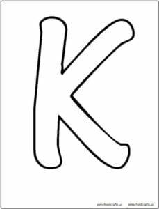 k em letra cursiva