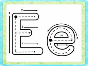 letra cursiva e letra de forma