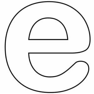 letra e cursiva minuscula