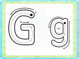 letra g para tracar
