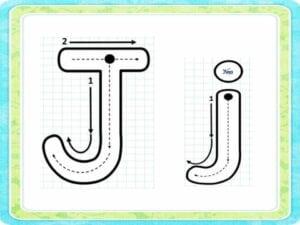 letra j para imprimir