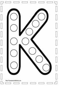letra k para imprimir
