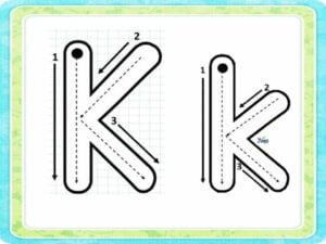letra k para tracar