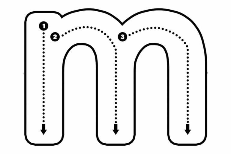 letra m para imprimir