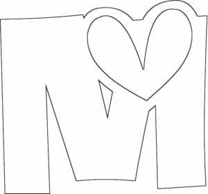 letra m para pintar