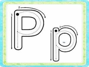 letra p maiuscula