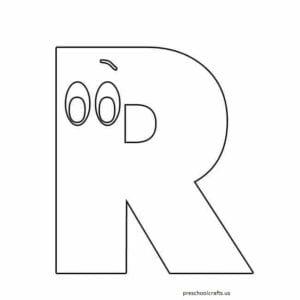 letra r para imprimir
