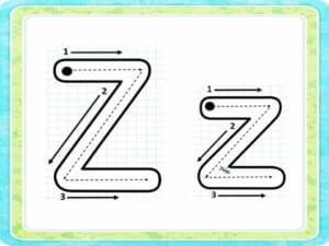 letra z cursiva