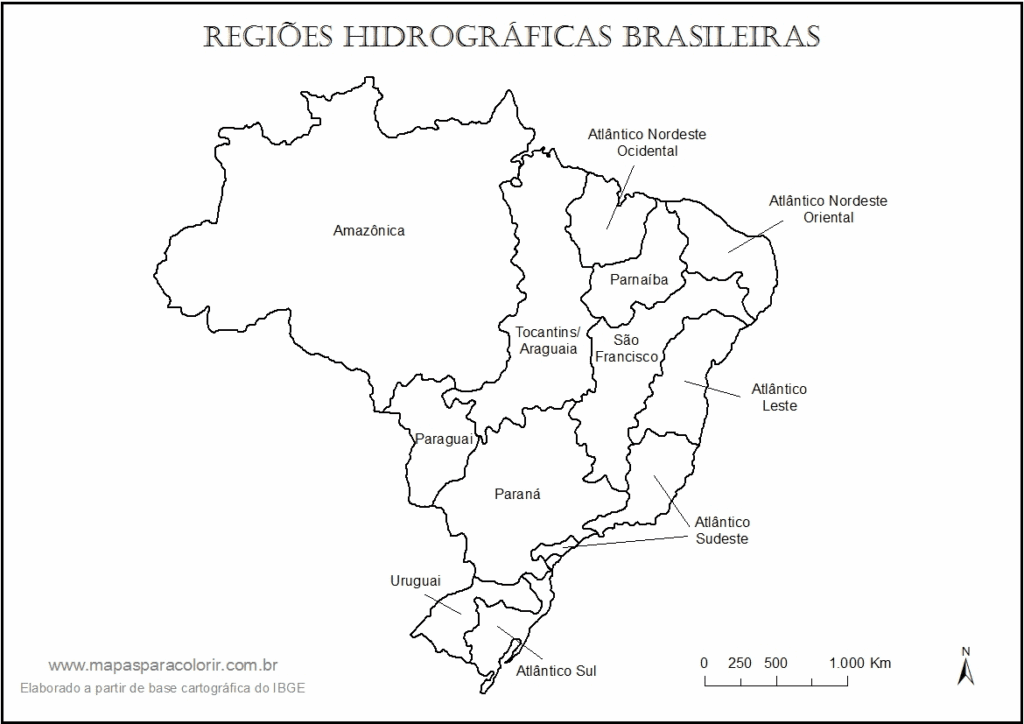 mapa do brasil bacias hidrograficas