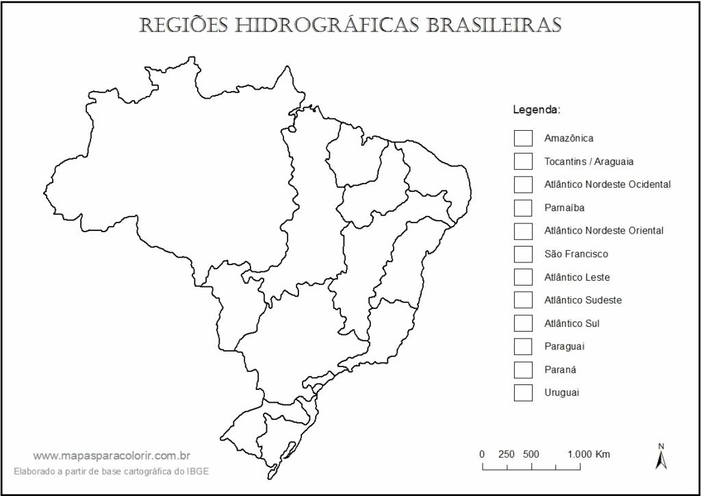 mapa do brasil bacias hidrograficas com legenda