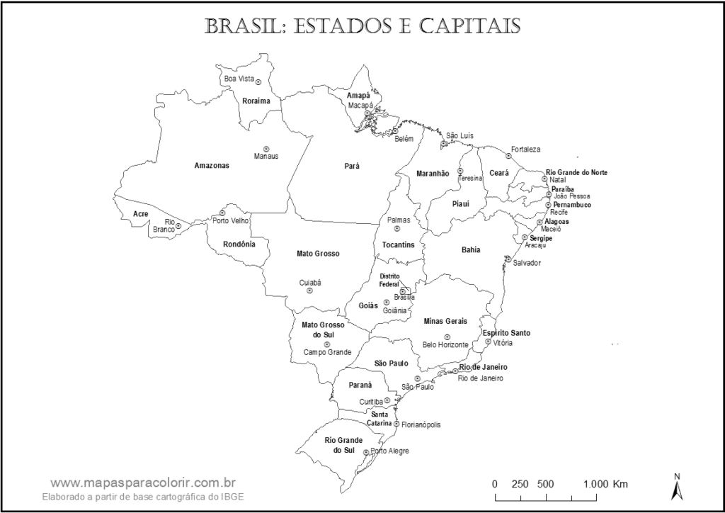 mapa do brasil estados e suas capitais