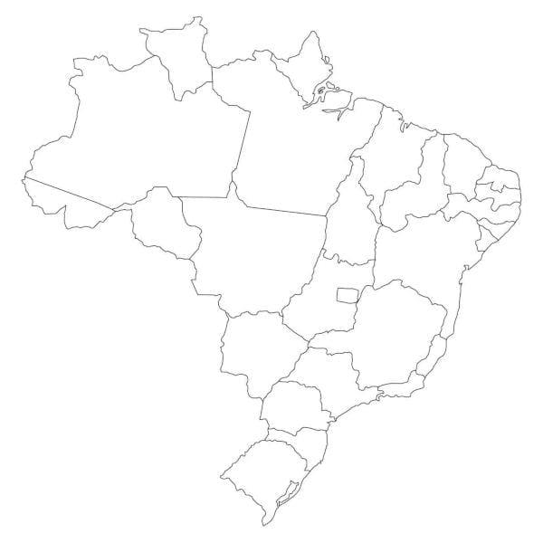 molde do mapa do brasil e seus estados