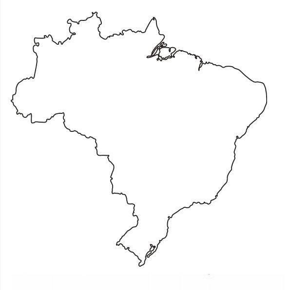 molde do mapa do brasil