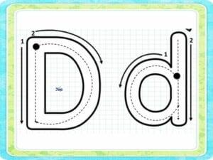 moldes da letra d para imprimir